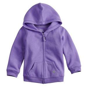 Jumping Beans Purple Zip-Up Softest Fleece Hoodie